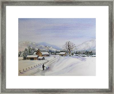 First Snow Framed Print by Jan Cipolla