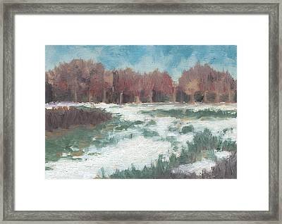 First Snow Framed Print by Marco Sivieri