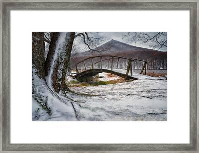 First Snow Of The Season Framed Print by Steve Hurt