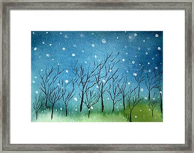 First Snow Framed Print by Oiyee At Oystudio