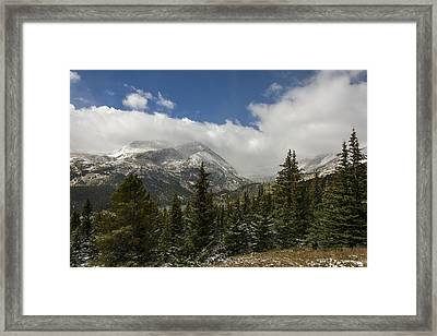 First Snow On Mount Lincoln - Colorado Framed Print by Brian Harig