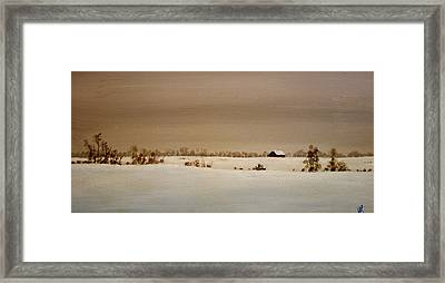 First Snow Framed Print by William Renzulli