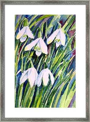 First Snowdrops Of Winter  Framed Print by Trudi Doyle