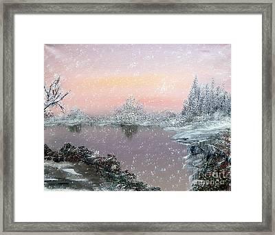First Snowfall Framed Print by Alys Caviness-Gober