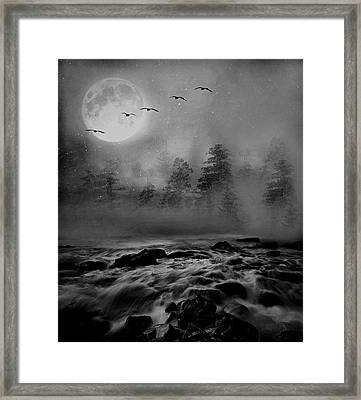 First Snowfall Geese Migrating Framed Print