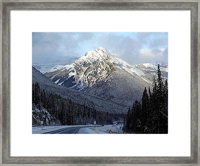 First Snowfall Framed Print by George Cousins