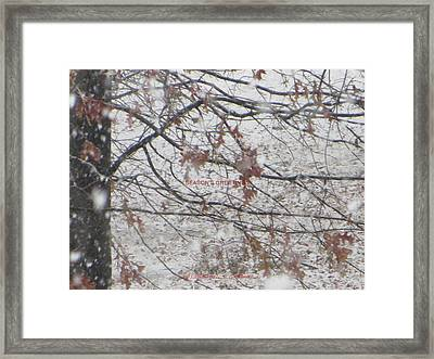 First Snowfall  Framed Print by Sonali Gangane
