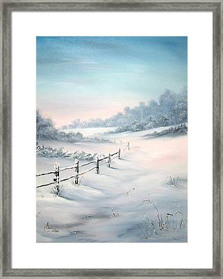Framed Print featuring the painting First Snows by Jean Walker
