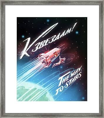 First Space Walk Framed Print by Detlev Van Ravenswaay