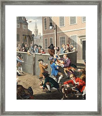 First Stage Of Cruelty, Illustration Framed Print by William Hogarth