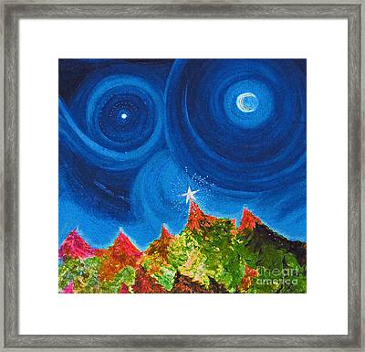 First Star Christmas Wish By Jrr Framed Print by First Star Art