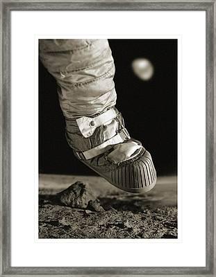 First Step On The Moon Framed Print by Detlev Van Ravenswaay
