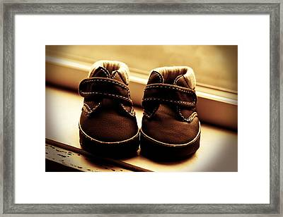 Framed Print featuring the photograph First Steps by Aaron Berg