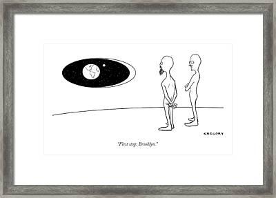 First Stop: Brooklyn Framed Print