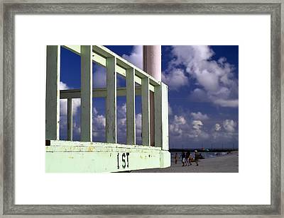 First Street Porch Framed Print
