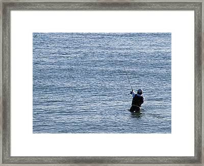 Framed Print featuring the photograph First Striper Of The Season by Greg Graham
