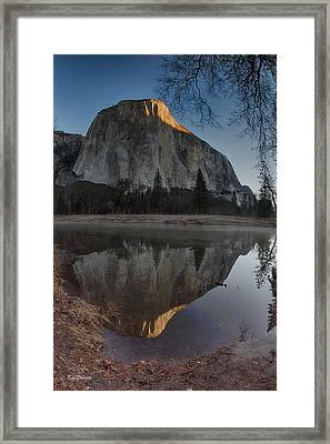 First Sun On El Capitan Framed Print by Bill Roberts