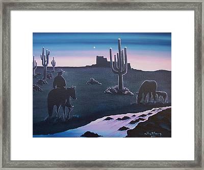 First Sunrise Framed Print