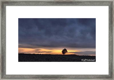 First Sunset Framed Print