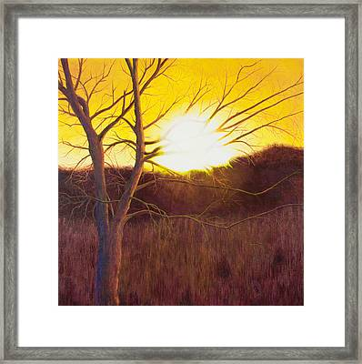 First Sunset Of Spring Framed Print by Garry McMichael
