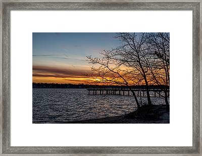 First Sunset Of The New Year Framed Print by Terry DeLuco