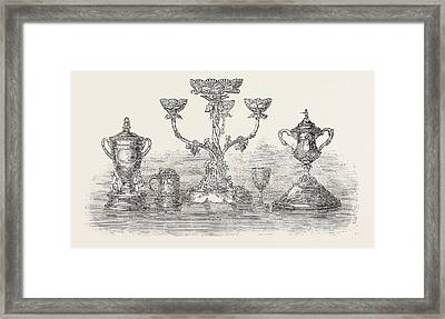 First Surrey Rifles Prizes The Ladies Challenge Cup. Lieut Framed Print by English School