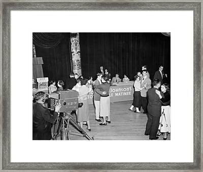 First Televised Record Hop Framed Print by Underwood Archives