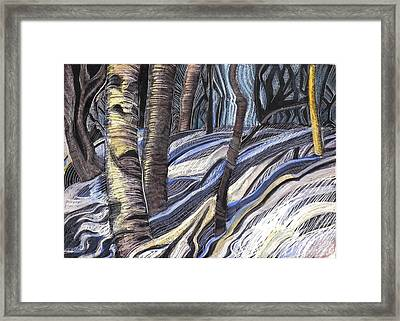 Framed Print featuring the drawing First Thaw by Grace Keown
