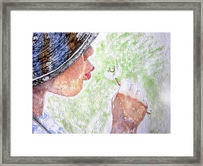First-time Dandelion Framed Print