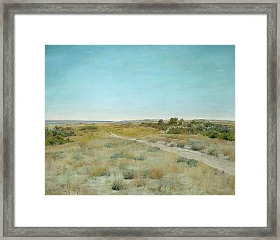 First Touch Of Autumn Framed Print by William Merritt Chase
