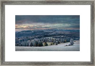 First Touch Of Winter Framed Print