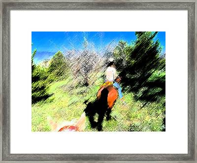 First Trail Ride-digital Sketch Framed Print
