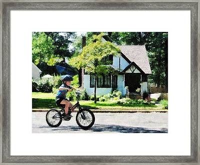 First Two Wheeler Framed Print by Susan Savad