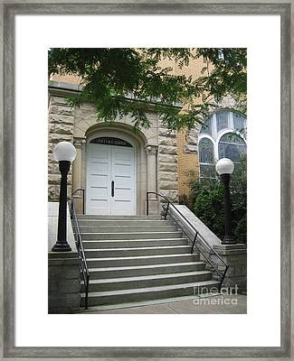 First United Methodist Church Williamstown Wv Framed Print