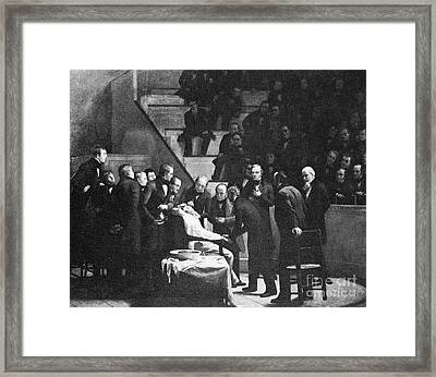 First Use Of General Anesthesia, 1846 Framed Print by Spl