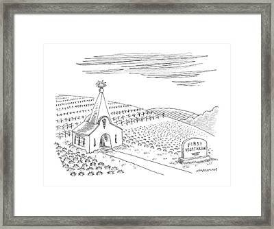 First Vegetarian Church.  A Pineapple Instead Framed Print
