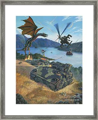 First Wave - Clash At Pyramid Lake Framed Print by Stu Shepherd