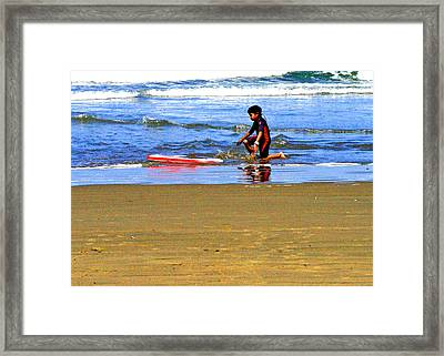 First Wave Framed Print by Joseph Coulombe