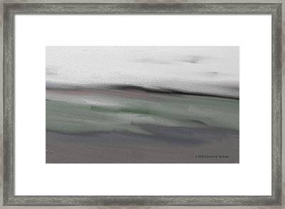 First Winter Storm Framed Print