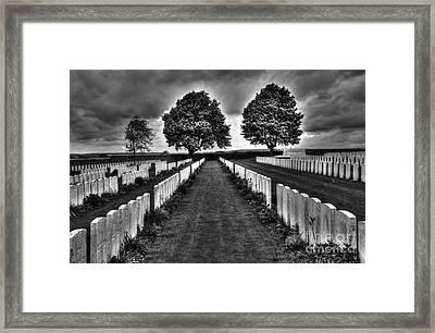 First World War Graves Framed Print