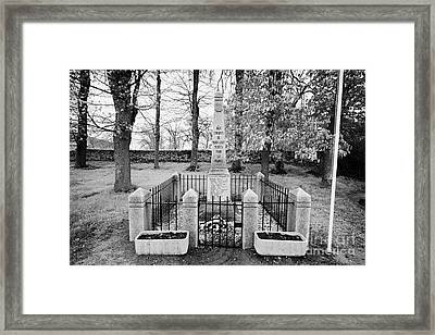 First World War Memorial French Mont-louis Pyrenees-orientales France Framed Print by Joe Fox