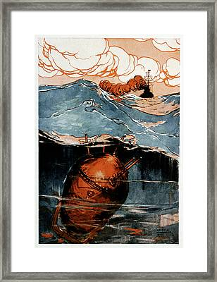 First World War Naval Mine Framed Print by Cci Archives