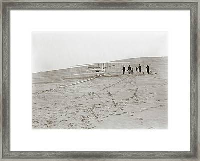 First Wright Flyer Launch Framed Print by Library Of Congress
