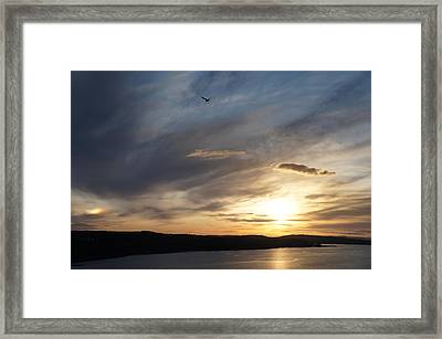 Firth Of Forth In The Sunset Framed Print