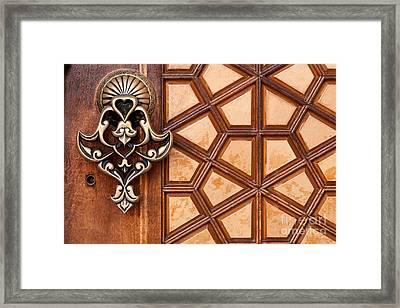 Firuz Aga Mosque Door 03 Framed Print by Rick Piper Photography