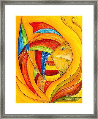 Fish 428-08-13 Marucii Framed Print