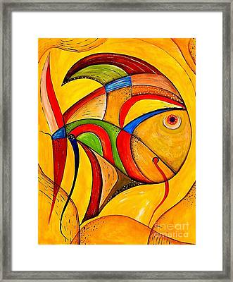 Fish 534-11-13 Marucii Framed Print