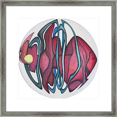 Fish Abstract Framed Print