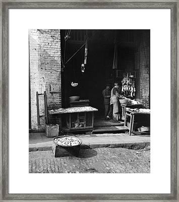 Fish Alley - San Francisco - 1896 Framed Print