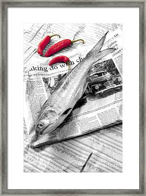 Fish And Chillies Framed Print